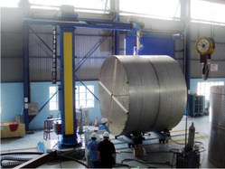 Circumferential welding at tanks with diameter 5.000mm