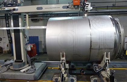 Automatenträger Plasmastichlochschweißen